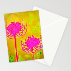 Spider Lily Flowers Stationery Cards
