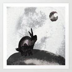 。Yearning for the Moon 。 Art Print