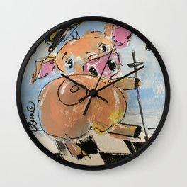 Pig Jig Wall Clock