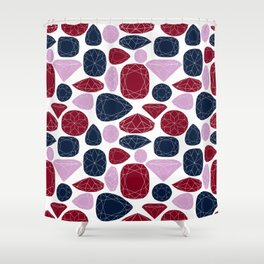 all that glitters (gems) Shower Curtain