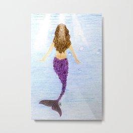 Mermaid! Metal Print