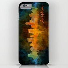 Austin Texas, City Skyline, watercolor  Cityscape Hq v4 Dark Slim Case iPhone 6s Plus