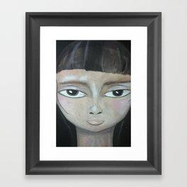 Little Brunette Framed Art Print