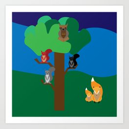 A woodland scene Art Print