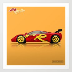 McLaren F1 GTR #10R - 1996 Presentation Livery - Side View Art Print