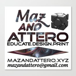 Educate.Design.Print Canvas Print