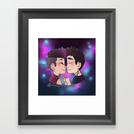 Galaxy Kiss Framed Art Print