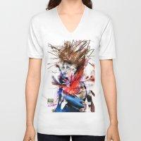 lara croft V-neck T-shirts featuring miss lara croft by yossikotler