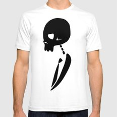 Party Skull White Mens Fitted Tee SMALL