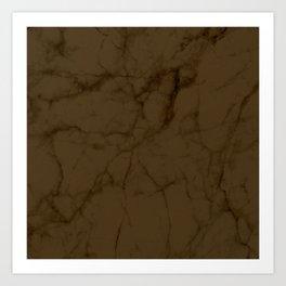 Coffee Carrara Marble Art Print