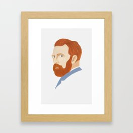 Vicent Van Gogh portrait Framed Art Print