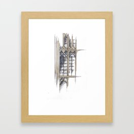 Bath Church Windows Framed Art Print