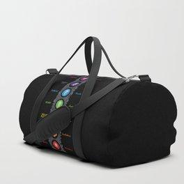 Seven Chakra Symbols & Names #40 Duffle Bag