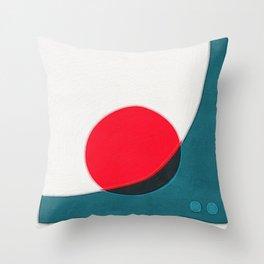 Circle on Slope Throw Pillow