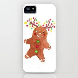 Gingerbread with Reindeer Headband iPhone Case