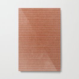 stitched stripes - ginger Metal Print