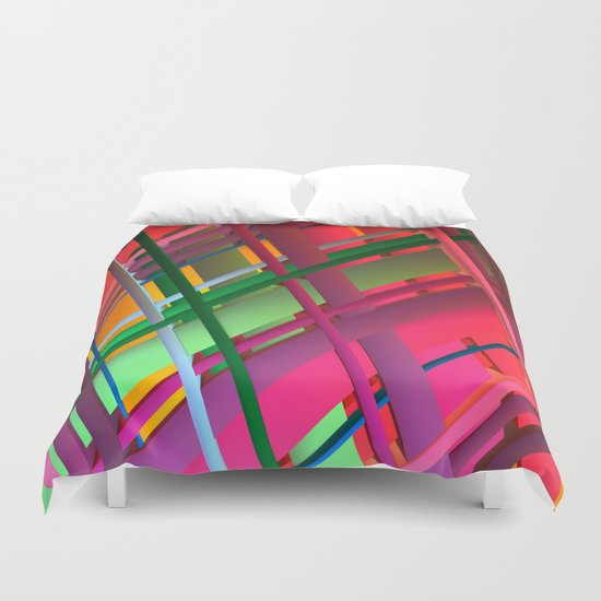 Striping Confusion Duvet Cover