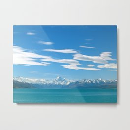Mount Cook Cloudscape Metal Print