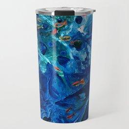 Rainbow Fish Swim, Environmental Tiny World Collection Travel Mug