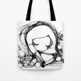 doodle girl illustration  Tote Bag