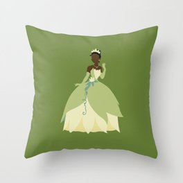 Tiana from Princess and the Frog Throw Pillow