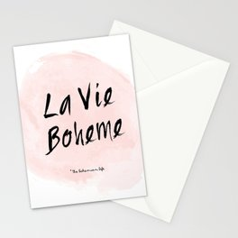 La vie Boheme Stationery Cards