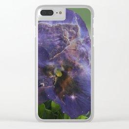 Flower Nebula Clear iPhone Case