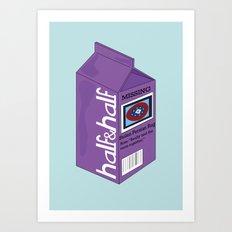 Half&Half Art Print