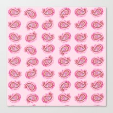 Paisley Watercolor in Rose Pink Canvas Print