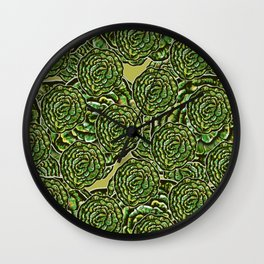 Cabbage Collage Wall Clock