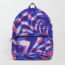70s Retro Abstract Pink and Blue texture Backpack