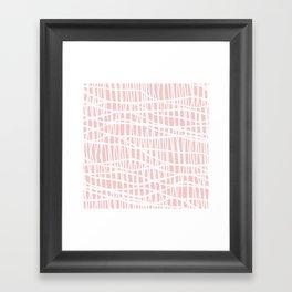Net White on Blush Framed Art Print