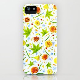 Leaves and flowers (11) iPhone Case