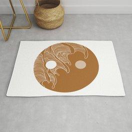 Yin Yang Wave Sun and Moon  Rug