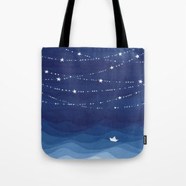 Garland of Stars IV, night sky Tote Bag