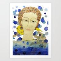 Antonio and the fish Art Print