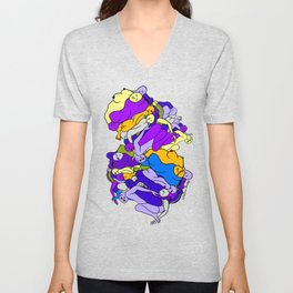 Sleeping Bodies - Ultraviolet Infusion Unisex V-Neck
