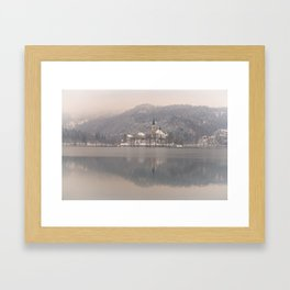 Bled Island On A Wintry Day Framed Art Print