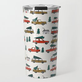 Christmas tradition christmas tree car drive home winter holidays Travel Mug