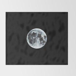 Full Moon Painting Throw Blanket