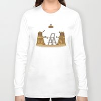 dalek Long Sleeve T-shirts featuring Dalek DIY by Doodle Dojo