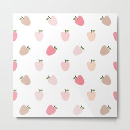 AFE Pastel Apples Metal Print