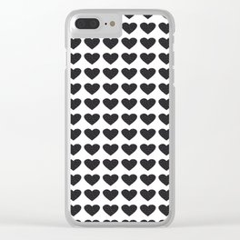 Heart-144 Clear iPhone Case