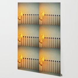 burning matches fire Wallpaper