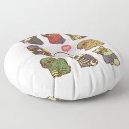 Puglie Halloween Floor Pillow