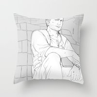 uncharted Throw Pillows featuring Nathan by Sbrasi