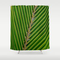 coconut wishes Shower Curtains featuring coconut,leaf by store2u