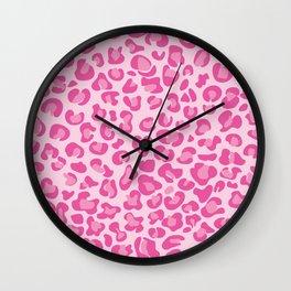 Pink Cheetah Wall Clock