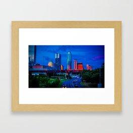 Sunset ATX Framed Art Print