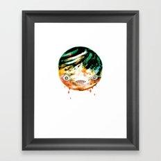 Moonbase Melonhead Framed Art Print